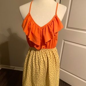Orange and Yellow Dress
